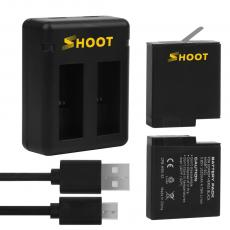 SHOOT for Go Pro 5 Camera 1220mAh Battery , Rechargeable Digital Camera Battery for Gopro Hero 6 7 Black